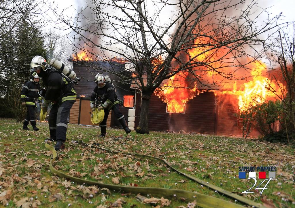 Incendie à Marsaneix